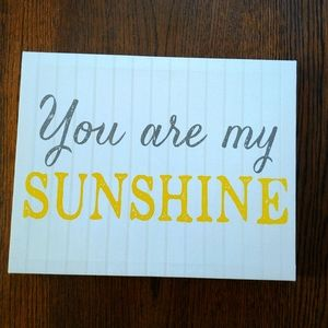 You are my Sunshine canvas wall print
